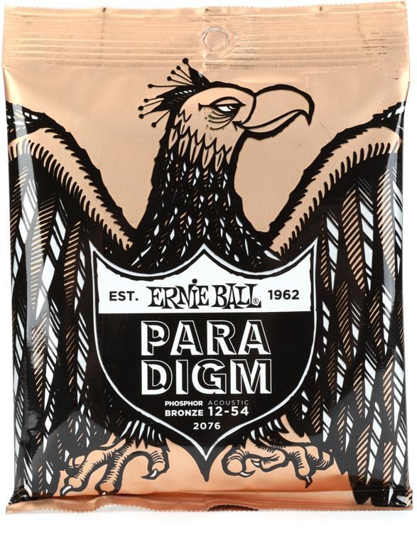Ernie Ball Paradigm Phosphor Bronze Acoustic Guitar Strings .012-.054 Medium Light image 1
