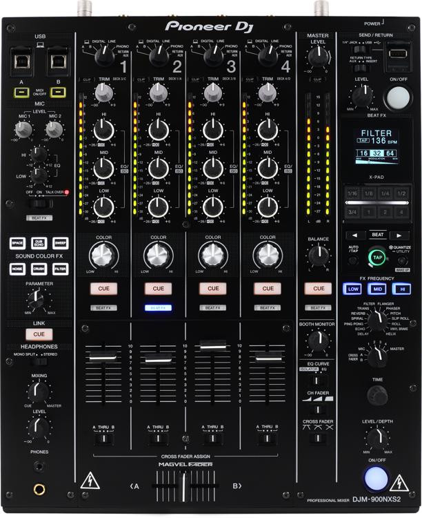 DJM-900NXS2 4-channel DJ Mixer with Effects