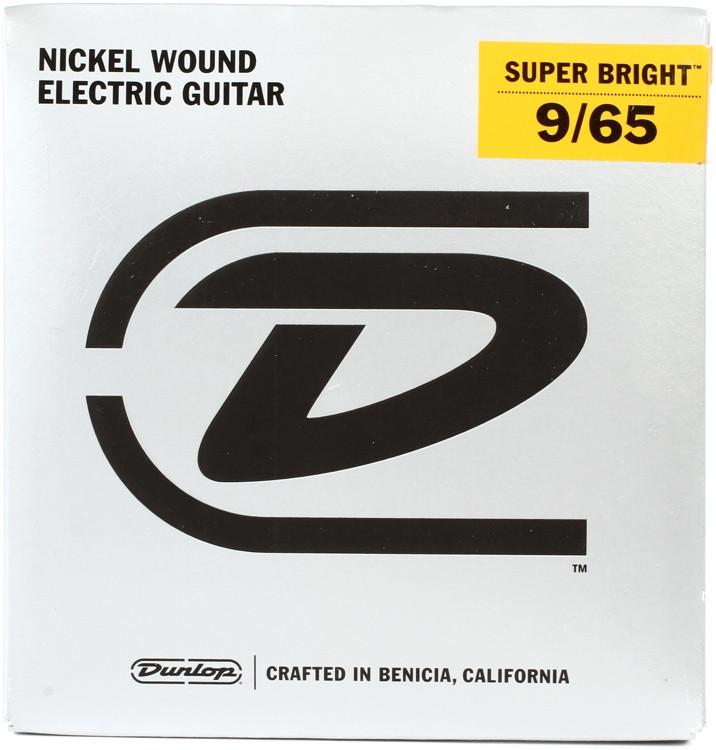 Dunlop Super Bright Electric Strings - .009-.065, Light 8-String image 1