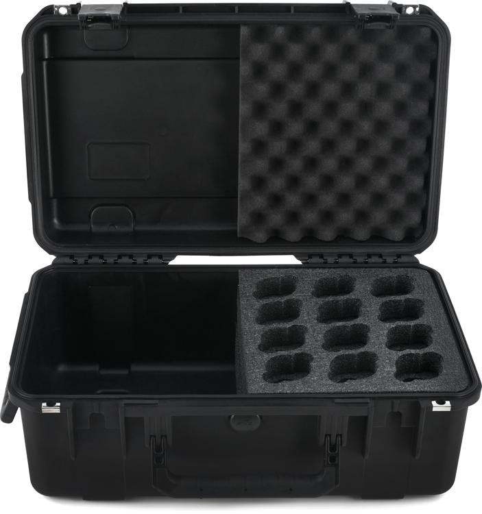 SKB 3I-2011-MC12 iSeries Waterproof Mic Case - Holds 12 Mics w/Storage image 1