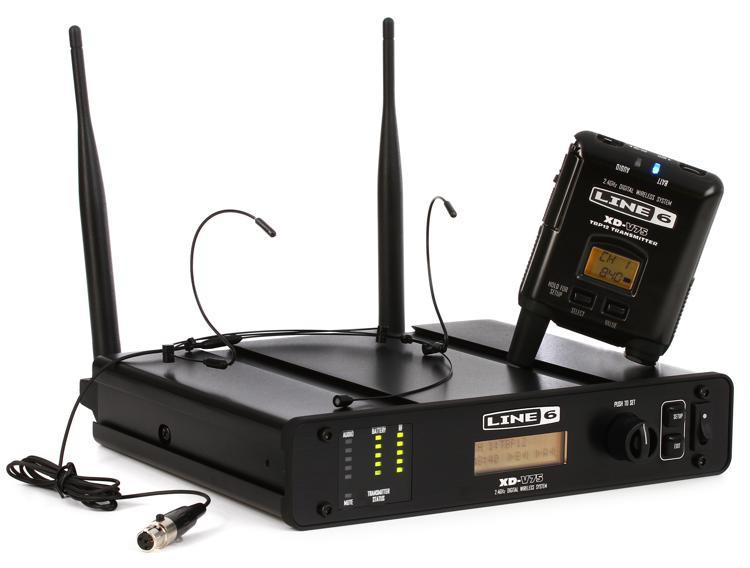 Line 6 XD-V75HS Digital Wireless Headset - Headset Black image 1