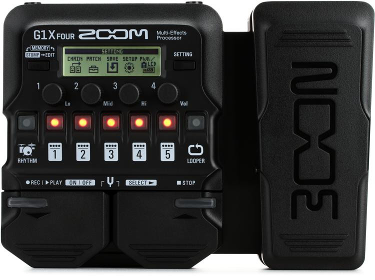 zoom g1x four multi effects processor with expression pedal sweetwater. Black Bedroom Furniture Sets. Home Design Ideas