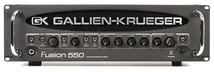 Gallien-Krueger Fusion 550 - 500+50-Watt Bi-Amp Hybrid Bass Head image 1
