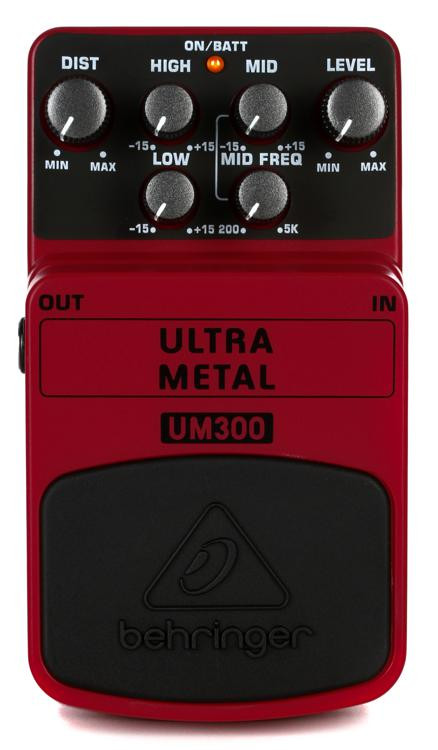 Behringer UM300 Ultra Metal Distortion Pedal image 1