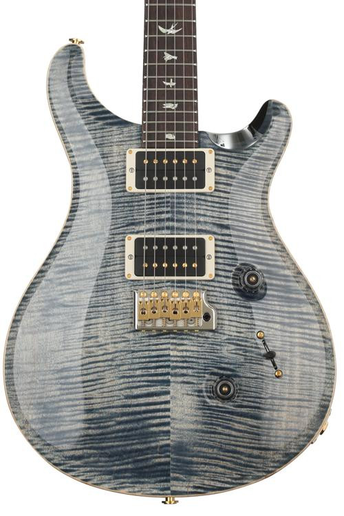 PRS Custom 24 10-Top - Faded Whale Blue with Pattern Regular Neck image 1