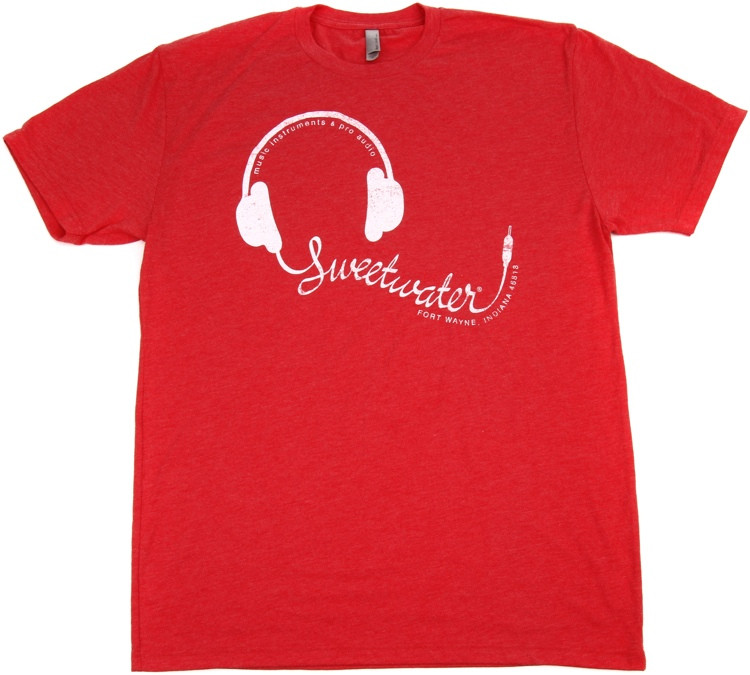 Sweetwater Vintage Red Headphone T-shirt - Men\'s Large image 1