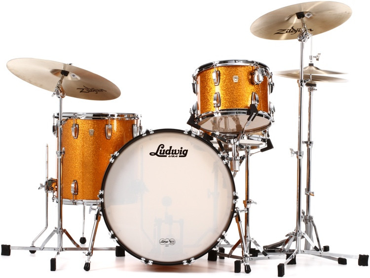 Ludwig Classic Maple Fab 22 Shell Pack - Gold Sparkle image 1