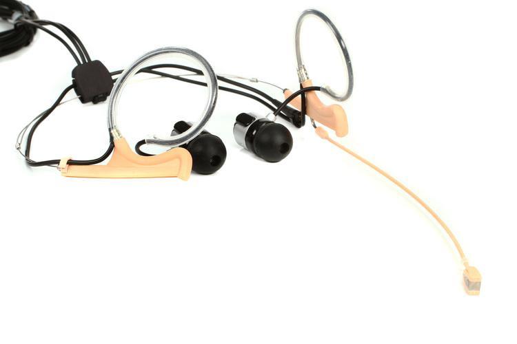 DPA d:fine In-Ear Broadcast Headset Microphone - Dual-Ear, Dual In-Ear, Omni, Beige image 1