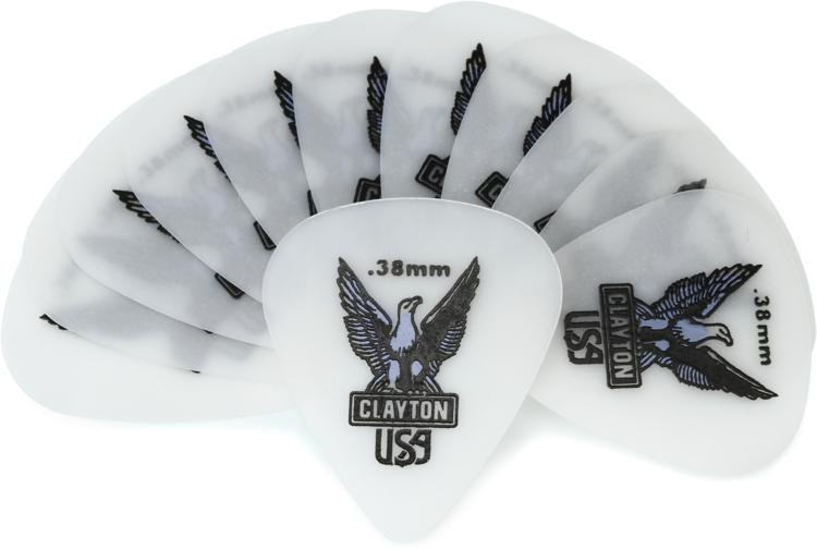 Clayton Acetal Standard Picks 12-pack .38mm image 1