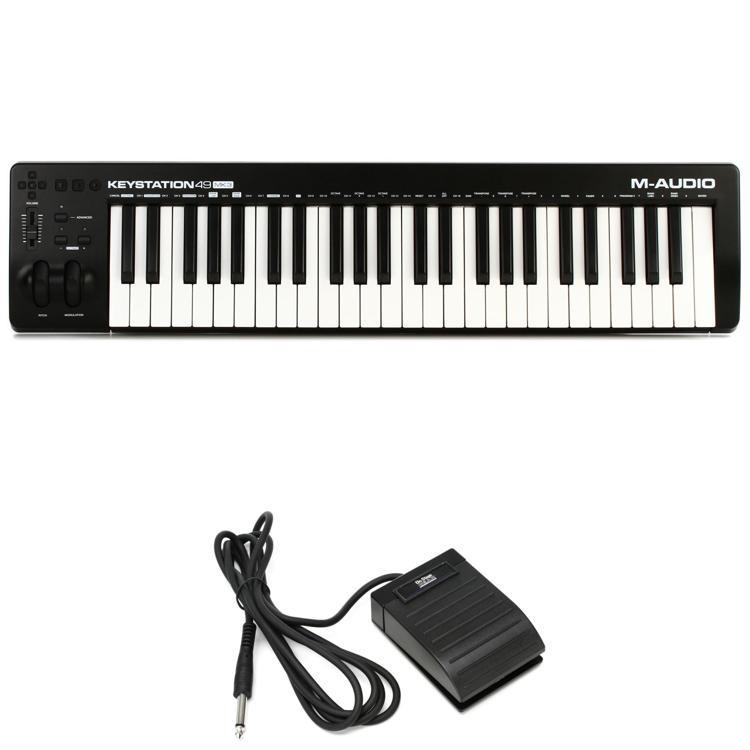 m audio keystation 49 mk3 bundle with footswitch sweetwater. Black Bedroom Furniture Sets. Home Design Ideas