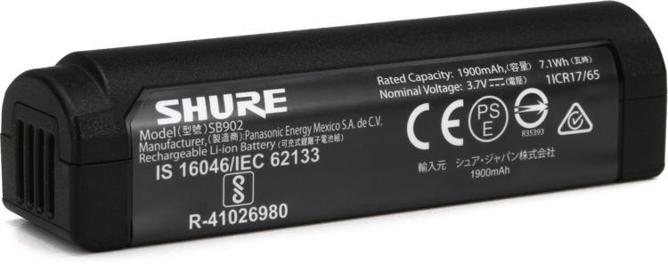 Shure SB902 Rechargeable Battery image 1