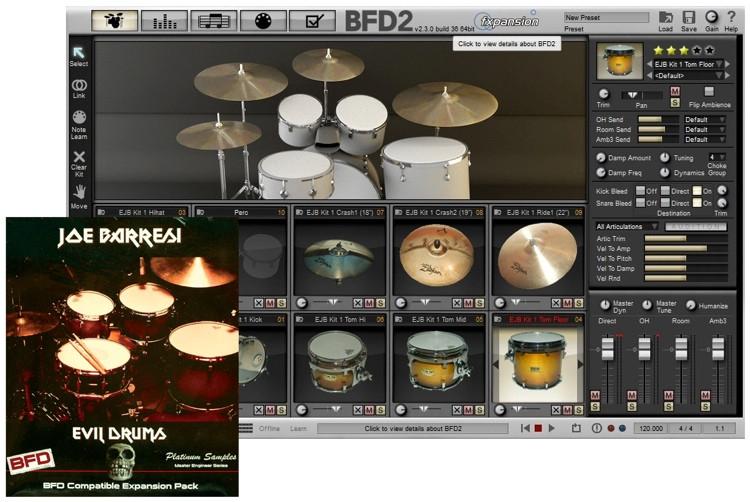 Platinum Samples Joe Barresi Evil Drums for BFD image 1