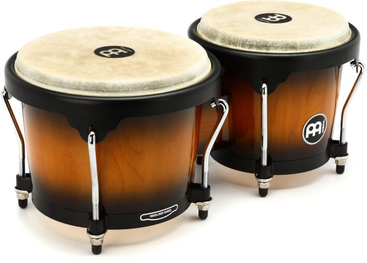Meinl Percussion Headliner Series Wood Bongos - Vintage Sunburst image 1