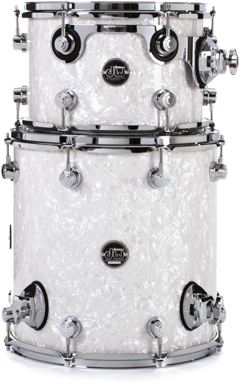 DW Performance Series 2-Piece Bop Tom Pack - White Marine Finish Ply image 1