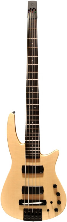 NS Design CR5 Radius Bass Guitar Natural Satin, Fretted image 1