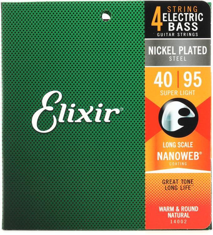 Elixir Strings 14002 Nanoweb Super Light Long Scale Electric Bass Strings image 1