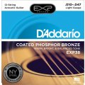 D'Addario EXP38 Coated Phosphor Bronze Light 12-String Acoustic Strings