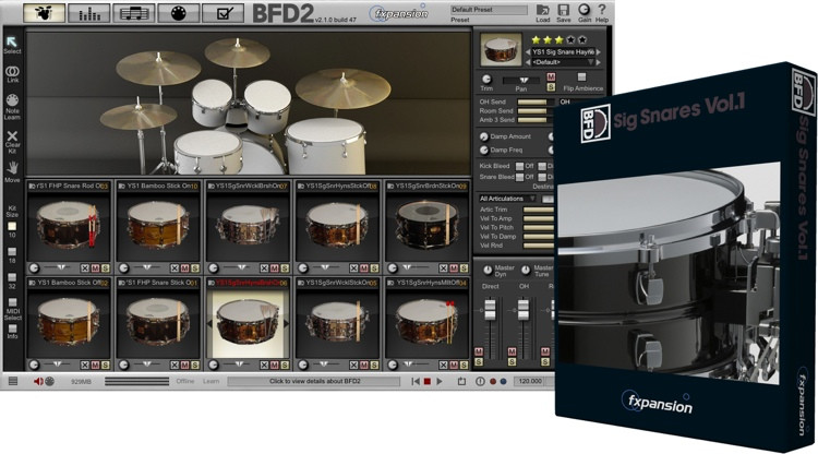 FXpansion BFD Signature Snares Vol. 1 Expansion Pack image 1