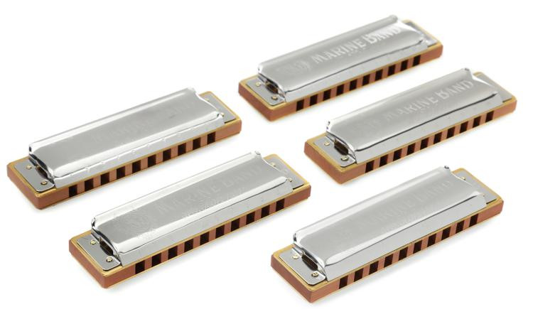 Hohner Marine Band - 5-pk (keys of G, A, C, D, E) image 1