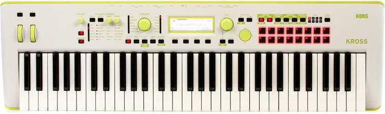 korg kross 2 61 key synthesizer workstation special edition neon green gray sweetwater. Black Bedroom Furniture Sets. Home Design Ideas