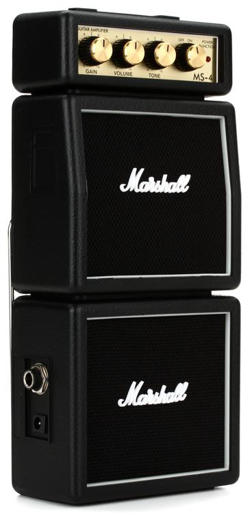 Marshall MS-4 1-watt Battery-powered Micro Stack - Black image 1