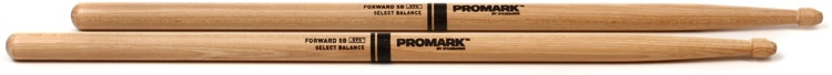 Promark Select Balance Forward Hickory Drumsticks - 0.595