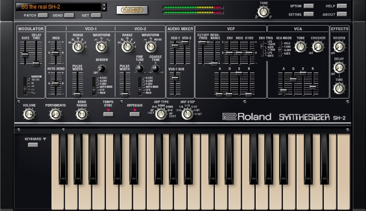 Roland SH-2 Plug-Out Software Synthesizer for System-1 Owners image 1