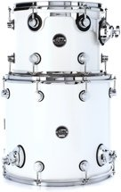 DW Performance Series 2 Piece Bop Tom Pack - White Ice Lacquer