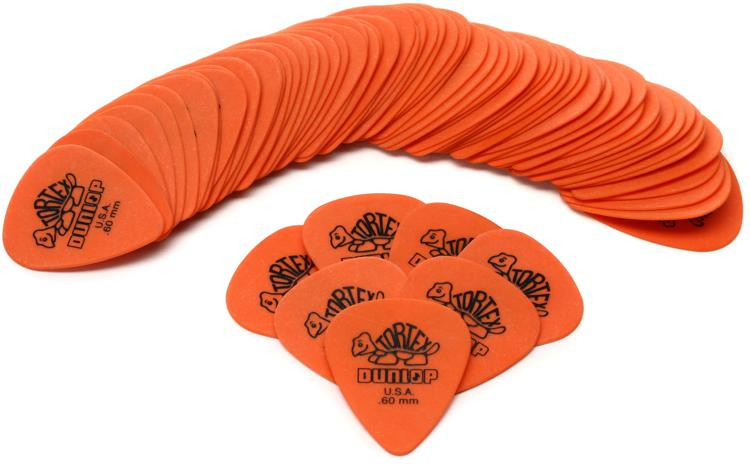Dunlop 418R.60 Tortex Standard .60mm Orange Guitar Picks 72-Pack image 1