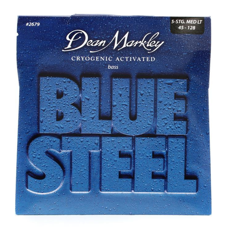Dean Markley 2679 Blue Steel Bass Guitar Strings - .045-.128 Medium Lt 5-String image 1