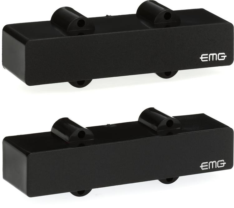 EMG J Set Active Ceramic J-Bass Pickup Set Black image 1