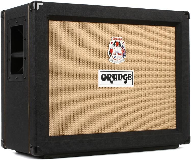 orange ppc212 ob 120 watt 2x12 open back speaker cabinet 16 ohm black sweetwater. Black Bedroom Furniture Sets. Home Design Ideas