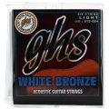 GHS WBL White Bronze Alloy 52 Light Acoustic Guitar Strings