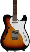 Fender Deluxe Telecaster Thinline - 3-Color Sunburst with Rosewood Fingerboard