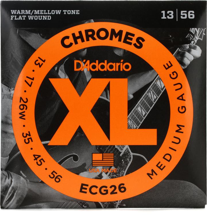 D\'Addario ECG26 Chromes Flat Wound Medium Electric Strings image 1