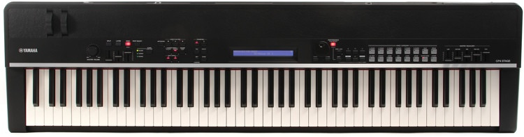Yamaha cp4 stage 88 note wooden key stage piano sweetwater for Yamaha cp4 stage 88 key stage piano