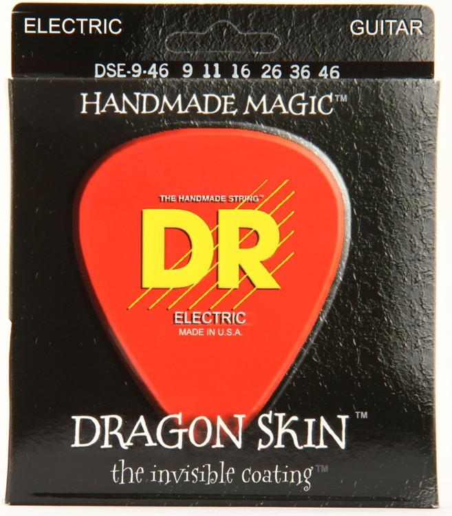 DR Strings DSE-9/46 Dragon Skin Lite & Heavy K3 Coated Electric Guitar Strings image 1