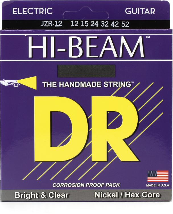 DR Strings JZR-12 Hi-Beam Nickel Plated Extra Heavy Electric Strings image 1