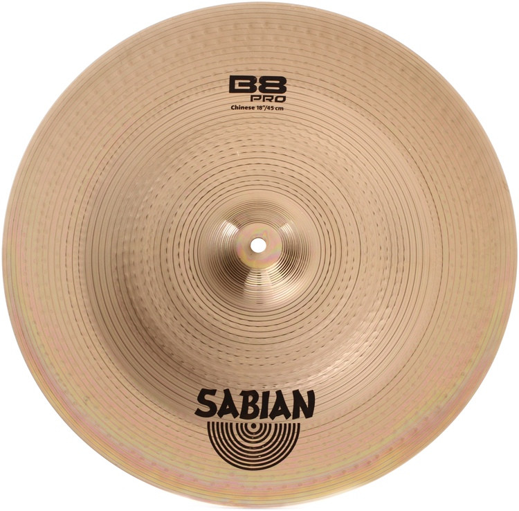 sabian b8 pro chinese cymbal 18 brilliant finish sweetwater. Black Bedroom Furniture Sets. Home Design Ideas
