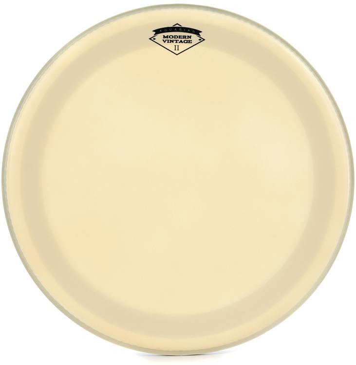 aquarian drumheads modern vintage ii bass drum head 18 with superkick ring sweetwater. Black Bedroom Furniture Sets. Home Design Ideas