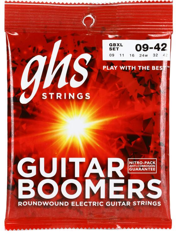 GHS GBXL Guitar Boomers Roundwound Extra Light Electric Guitar Strings image 1