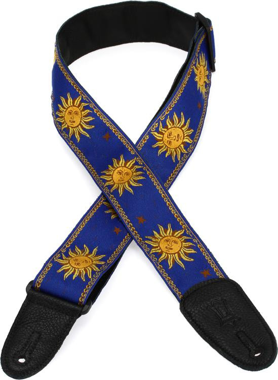 Levy\'s MPJG \'60s Sun Polyester Guitar Strap - Blue image 1