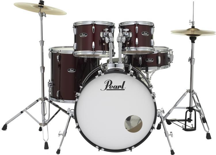 Roadshow 5-piece Complete Drum Set with Cymbals - 22