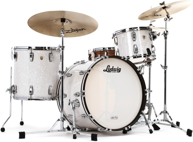 Ludwig Classic Maple Fab 22 Shell Pack - White Marine Pearl image 1