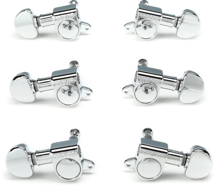 Grover 205C Mini Rotomatic Tuners - 3+3 - Chrome image 1
