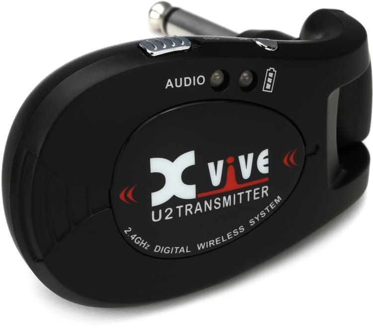 xvive audio u2t wireless transmitter for guitar black sweetwater. Black Bedroom Furniture Sets. Home Design Ideas