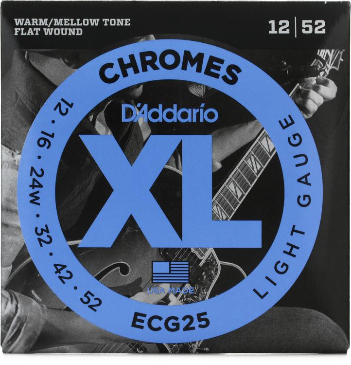 D\'Addario ECG25 Chromes Flatwound Light Electric Strings image 1