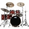 DW Collector's Series Exotic Maple Shell Pack - 5-pc Natural Padauk Pommele