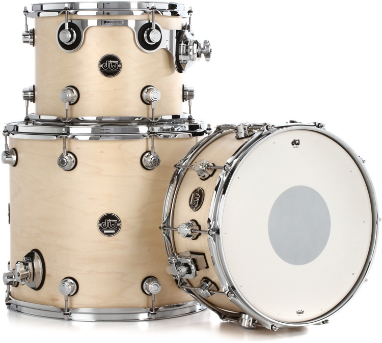 DW Performance Series 3-piece Tom/Snare Pack - Natural Satin Oil image 1