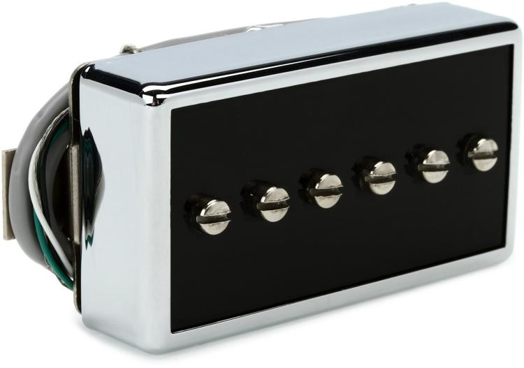 Gibson Accessories P-94R Humbucker-Sized P-90 Pickup - Black and Silver, Neck image 1
